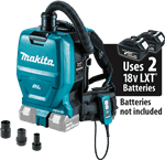 Makita XCV05ZX 18V 1/2 Gallon HEPA Filter Backpack