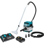 Makita XCV08PT 18V X2 LXT Lithium‑Ion (36V) Brushless Cordless 2.1 Gallon HEPA Filter Dry Dust Extractor/Vacuum Kit, AWS (5.0Ah)