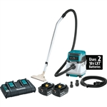 Makita XCV13PT 18V X2 (36V) LXT Lithium Ion Cordless/Corded 4 Gallon HEPA Filter Dry Dust Extractor/Vacuum Kit (5.0Ah)