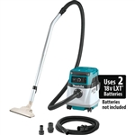 Makita XCV13Z 18V X2 LXT Lithium Ion (36V) Cordless/Corded 4 Gallon HEPA Filter Dry Dust Extractor/Vacuum, Tool Only