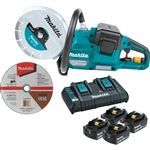 Makita XEC01PT1 18V X2 (36V) LXT Lithium‑Ion Brushless Cordless 9 in. Power Cutter Kit, with AFT, Electric Brake, 4 Batteries (5.0 Ah)