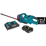 "Makita XHU04PT 18V X2 (36V) LXT Lithium-Ion Cordless 25-1/2"" Hedge Trimmer Kit (5.0Ah)"