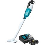 Makita XLC03R1WX4 18V LXT Lithium Ion Compact Brushless Cordless Vacuum Kit, Trigger w/ Lock (2.0Ah)