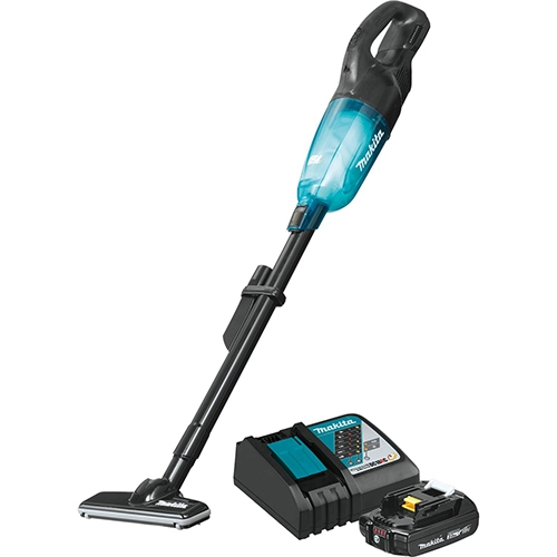 Makita XLC04R1BX4 18V LXT Lithium Ion Compact Brushless Cordless 3 Speed Vacuum Kit w/ Push Button (2.0Ah)