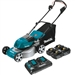 Makita XML03PT1 18V X2 LXT Lithium-Ion Brushless Cordless 18 in. Lawn Mower Kit with 4 Batteries (5.0 Ah)