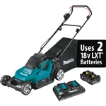 Makita XML05PT 18V X2 (36V) LXT Lithium Ion Cordless 17 in. Residential Lawn Mower Kit (5.0Ah)