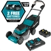 Makita XML08PT1 18V X2 (36V) LXT Lithium Ion Brushless Cordless 21 in. Self Propelled Lawn Mower Kit with 4 Batteries (5.0Ah)