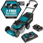 Makita XML08PT1 18V X2 (36V) LXT® Lithium-Ion Brushless Cordless 21 in. Self-Propelled Commercial Lawn Mower Kit with 4 Batteries (5.0Ah)