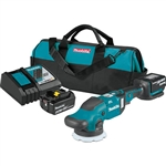 Makita XOP02T 18V LXT Lithium Ion Brushless Cordless 5 / 6 in. Dual Action Random Orbit Polisher Kit (5.0Ah)