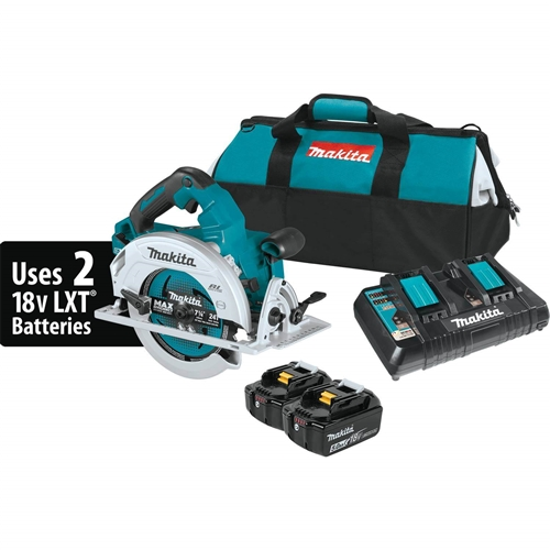 Makita XSH06PT 18V X2 LXT Lithium‑Ion (36V) Brushless Cordless 7‑1/4 in. Circular Saw Kit (5.0Ah)
