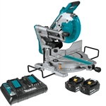 Makita XSL06PT 18V X2 LXT Lithium‑Ion (36V) Brushless Cordless 10 in. Dual Bevel Sliding Compound Miter Saw with Laser Kit (5.0Ah)