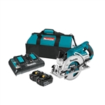 "Makita XSR01PT 18V X2 LXT (36V) Brushless Rear Handle 7-1/4"" Circular Saw Kit, blade left (5.0Ah)"
