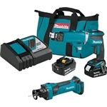 Makita XT255TX2 18V LXT Lithium Ion Cordless 2 Pc. Combo Kit with Collated Autofeed Screwdriver Magazine 5.0 Ah