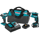 Makita XT262R 18V Cordless 2pc. Combo Kit 2.0Ah