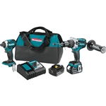 Makita XT268T 18 Volt LXT Lithium-Ion Brushless Cordless 2-Piece Combo Kit (Hammer Drill/ Impact Driver) 5.0 Ah