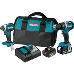 Makita XT269T 18V LXT Lithium-Ion Brushless Cordless 2 Piece Combo Kit 5 Ah