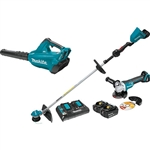 Makita XT277PTX 18V X2 LXT Lithium‑Ion Brushless Cordless 2‑Pc. Combo Kit (5.0Ah) and Brushless Angle Grinder