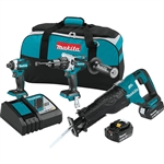 Makita XT330T 18V LXT Lithium‑Ion Brushless Cordless 3 Piece Combo Kit (5.0Ah)
