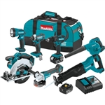 Makita XT706 18V LXT Lithium‑Ion Cordless 7‑Pc. Combo Kit (3.0Ah)