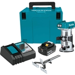 Makita XTR01T8J 18V LXT Lithium-Ion Brushless Cordless Compact Router Starter Kit