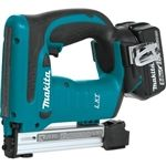 "Makita XTS01T  18V LXT® Lithium-Ion Cordless 3/8"" Crown Stapler Kit (5.0Ah)"