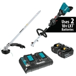 Makita XUX01M5PT 18V X2 (36V) LXT Lithium-Ion Brushless Cordless Couple Shaft Power Head Kit with String Trimmer Attachment (5.0Ah)