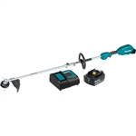 Makita XUX02SM1X1 18V LXT Lithium Ion Brushless Cordless Couple Shaft Power Head Kit w/ 13 in. String Trimmer Attachment (4.0Ah)