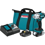Makita XWT11R 18V LXT Lithium‑Ion Compact Brushless Cordless 3‑Speed 1/2 in. Sq. Drive Impact Wrench Kit (2.0Ah)