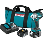 Makita XWT14T 18V LXT Lithium Ion Brushless Cordless 4 Speed 1/2 in. Sq. Drive Impact Wrench Kit w/ Friction Ring Anvil (5.0Ah)
