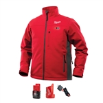 Milwaukee 202R-21 Heated ToughShell Jacket Kit, Red