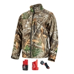Milwaukee 222C-21 M12 Heated Quietshell 2Ah Kit, Realtree Camo