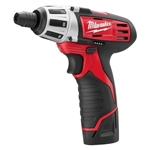 Milwaukee 2401-21 M12 12V Cordless Screwdriver Kit