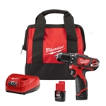 Milwaukee Cordless 2407-22 12-volt 3/8 2 speed Inch drill driver Kit
