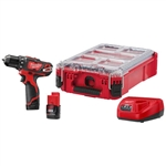 Milwaukee 2407-22PO M12 3/8 in. Drill PACKOUT Kit