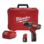 Milwaukee Cordless 2408-22 12-volt 3/8 inch hammer drill driver Kit