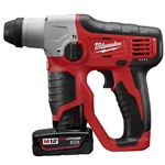 Milwaukee 2412-22XC M12 1/2 Inch SDS Plus Rotary Hammer Kit