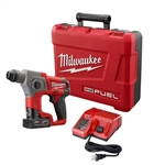 Milwaukee 2416-21XC M12 FUEL 12-Volt Lithium-Ion 5/8 in. Brushless Cordless SDS-Plus Rotary Hammer Kit with a 4.0h Battery and Hard Case