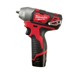 Milwaukee Cordless 2461-22 12-volt quarter Inch Impact Wrench Kit