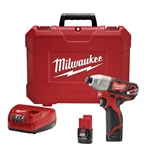 Milwaukee Cordless 2462-22 12-volt 1/4 Inch Hex Impact Driver Kit