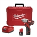 Milwaukee Cordless 2463-22 12-volt 3/8 Inch Impact Wrench Kit