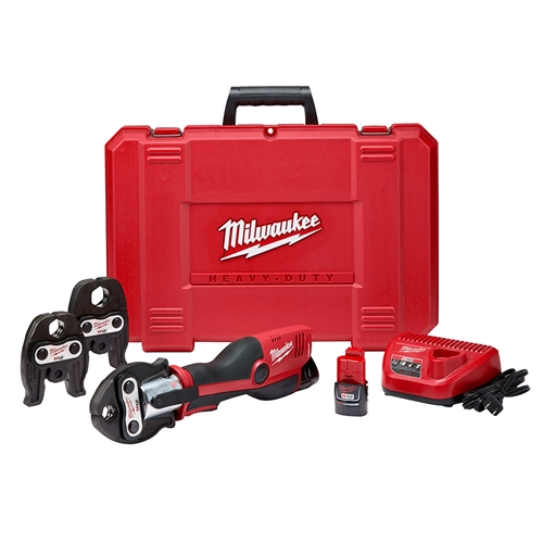 Milwaukee 2473-22 M12 Force Logic Press Tool Kit with Jaws Crimping, Cutting, Fastening, Tool