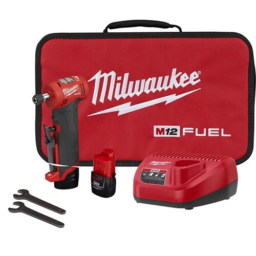 Milwaukee 2485-22 M12 FUEL 1/4 in. Right Angle Die Grinder 2 Battery Kit
