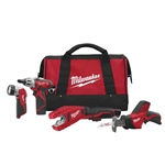 2490-24 M12 4-Tool Combo Kit by Milwaukee Tools