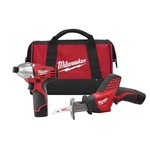 Milwaukee Tools 2491-22 M12 2 Tool Combo Kit