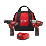Milwaukee 2494-22 M12 Cordless 2 Tool Combo Kit