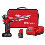 Milwaukee 2552-22 M12 FUEL 1/4 in. Stubby Impact Wrench Kit