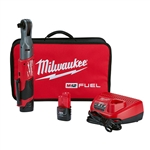 Milwaukee 2558-22 M12 FUEL 1/2 in. Ratchet 2 Battery Kit