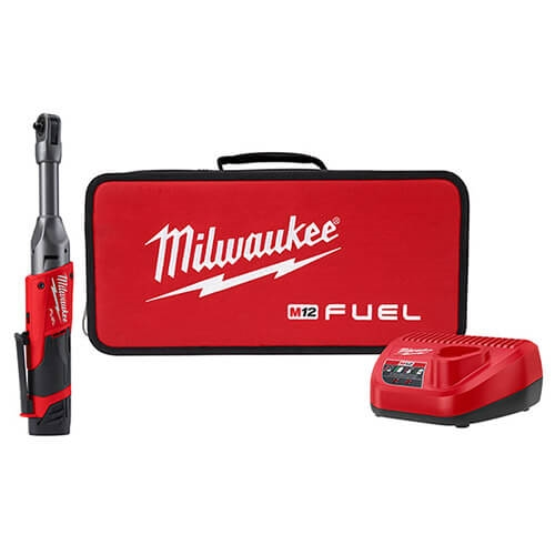 Milwaukee 2559-21 M12 FUEL 1/4 in. Extended Reach Ratchet 1 Battery Kit