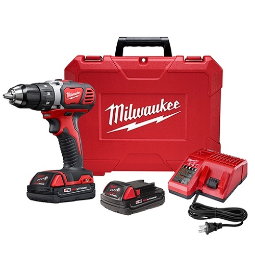 Milwaukee 2606-22CT M18 Compact 1/2 In. Drill Driver Kit w/ Compact Batteries