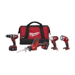 2695-24 - Milwaukee Electric Tool M18 4-Tool Combo Kit